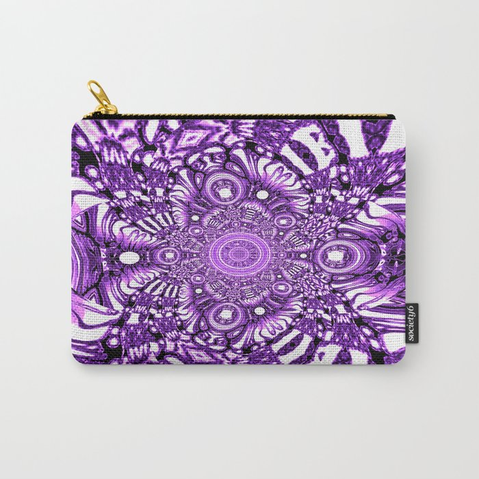 Precisely Abstract (Purple)  Carry-All Pouch