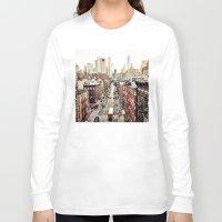 new york city Long Sleeve T-shirts featuring New York City by Orbon Alija