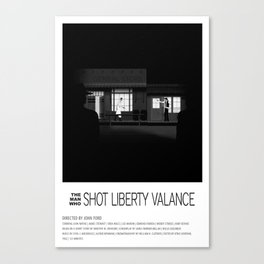 THE MAN WHO SHOT LIBERTY VALANCE (1962) Canvas Print