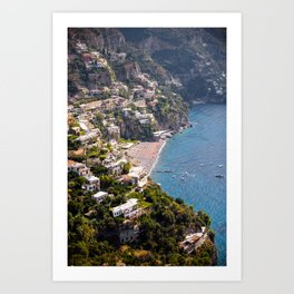 Positano Italy Harbor - Mediterranean Sea Art Print