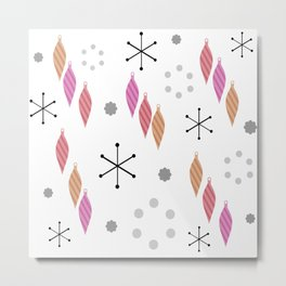Mid Century Modern Winter Metal Print