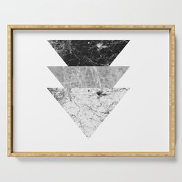 Night marble triangles Serving Tray