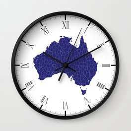 Australia Map Mosaic Wall Clock