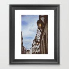 Lanterns & Streets of Paris Framed Art Print