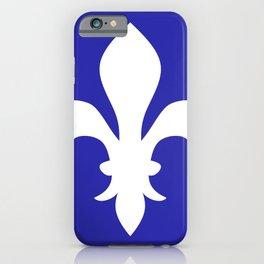 Fleur de Lis (White & Navy Blue) iPhone Case