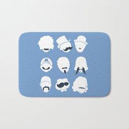 Famous Moustaches blue Bath Mat