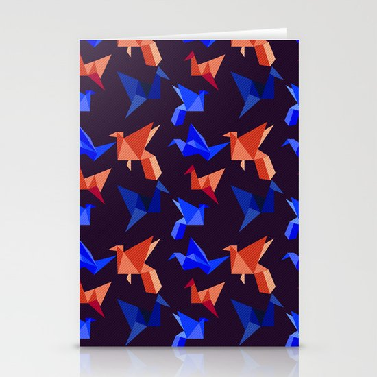 paper cranes in flight Stationery Cards