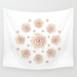Heart succulent Wall Tapestry