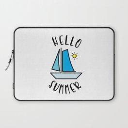 Hello Summer Sailing Laptop Sleeve