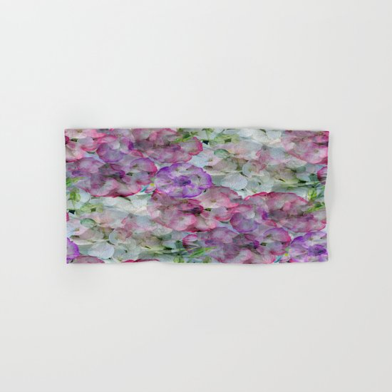 Mesmerizing Floral Abstract Hand & Bath Towel