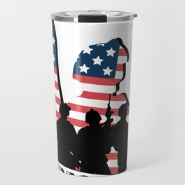 Support My Heroes Memorial Day American Flag Travel Mug