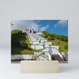 Chapel in Azores islands Mini Art Print