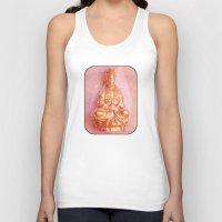 budi satria kwan Tank Tops featuring Rose-Bronze Kwan Yin by Jan4insight