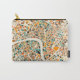 London Mosaic Map #4 Carry-All Pouch