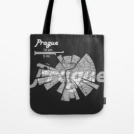 Prague Map Tote Bag