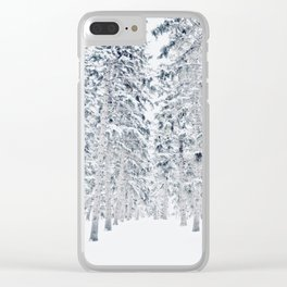 Endless Evergreens Clear iPhone Case