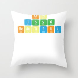 Science Periodic table Element Life Gift Throw Pillow