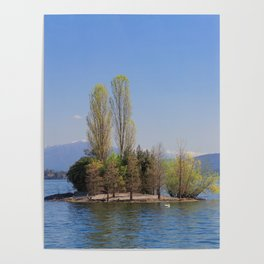 Romantic Island of Love on Lake Maggiore in Italy Poster
