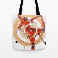pivot Tote Bags featuring Pivot | Collage by Lucid House
