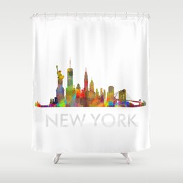 NY-New York Skyline HQ Shower Curtain