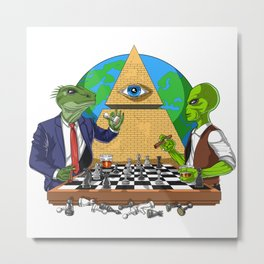 Alien Illuminati Conspiracy Metal Print