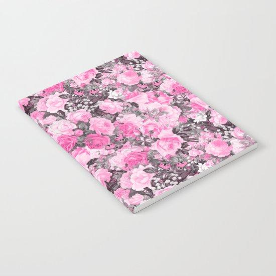 Floral pink vintage pattern Notebook