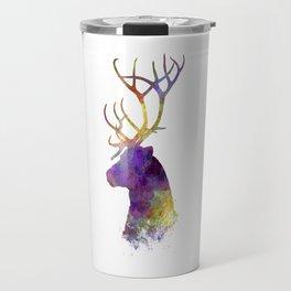 Reindeer 01 in watercolor Travel Mug