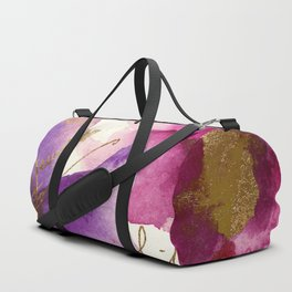 Pink and Purple Duffle Bag