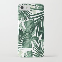 Tropical Jungle Leaves Pattern #4 #tropical #decor #art #society6 iPhone Case