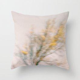 Blurry Tree Throw Pillow