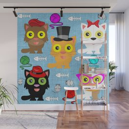 Cat's Meow Wall Mural