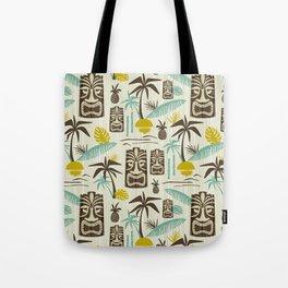 Island Tiki - Tan Tote Bag