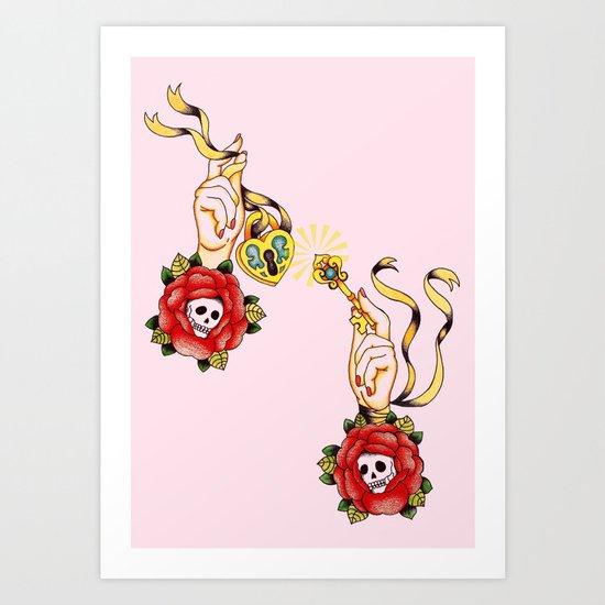 Key To Muh Heart Art Print