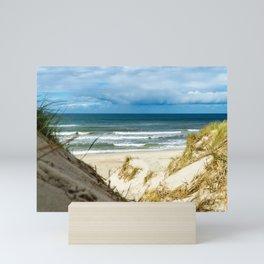 Sand Dune Beach Access North Sea Denmark Haurvig Mini Art Print