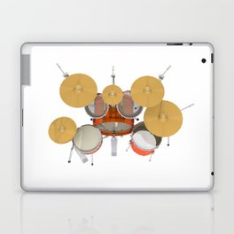 Orange Drum Kit Laptop & iPad Skin