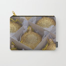 Time For Golden Christmas Balls Carry-All Pouch