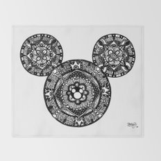 Mickey Mouse Mandala Throw Blanket