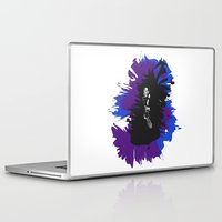 saxophone Laptop & iPad Skins featuring Saxophone Jive by Aaron Gonzalez