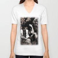 "cowboy V-neck T-shirts featuring Cowboy by Javier Fonseca ""JFons"""