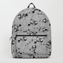 White Vespa Scooter Backpack