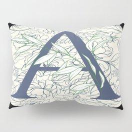 Monogram A Vines & Flowers Pillow Sham