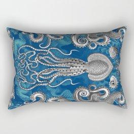 The Kraken (Blue - No Text, Alt.) Rectangular Pillow