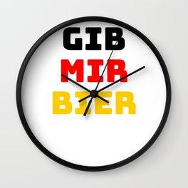 Beer Germany flag holiday gift Wall Clock