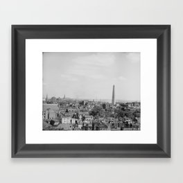 Vintage Photograph of Charlestown Massachusetts  Framed Art Print