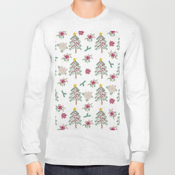 Christmas Pattern Long Sleeve T-shirt