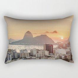 View over Botafogo towards the Sugarloaf Mountain at sunrise, Rio de Janeiro, Brazil Rectangular Pillow