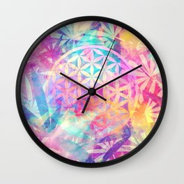 Within Nature (Flower Of Life) Wall Clock