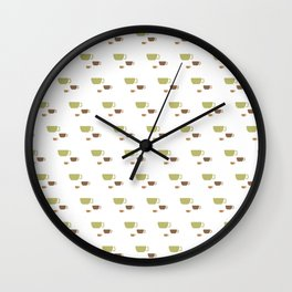 CUP PATTERN Wall Clock