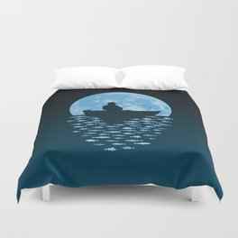 Hooked by Moonlight Duvet Cover