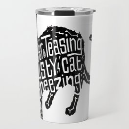 Rain Gutter Teasing, Rusty Cat Sneezing Travel Mug
